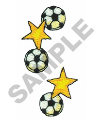 SOCCER BALLS AND STARS embroidery design