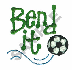 BEND IT embroidery design