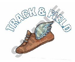 TRACK embroidery design