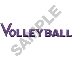 VOLLEY BALL embroidery design