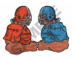 FOOTBALL PLAYERS embroidery design