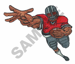 RUNNING BACK embroidery design