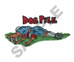 DOG PILE embroidery design