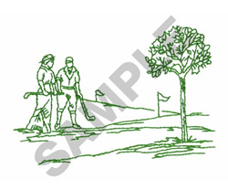 COUPLES GOLF embroidery design