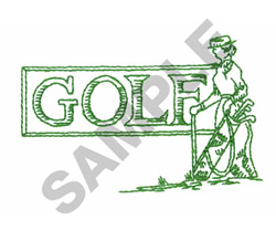OLD WORLD GOLF SIGN embroidery design