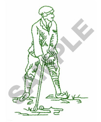TEE OFF embroidery design