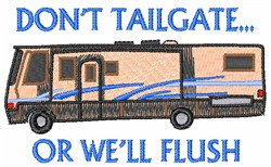 DONT TAILGATE embroidery design