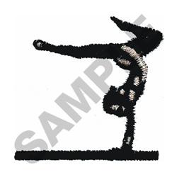 GYMNAST ON BEAM embroidery design