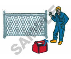 FENCE WORKER embroidery design