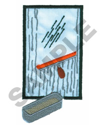WINDOW WASHER embroidery design
