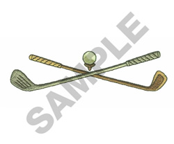 GOLF CLUBS embroidery design