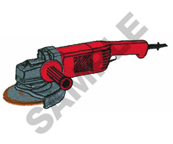 ANGLE GRINDER embroidery design