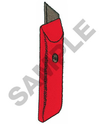 UTILITY KNIFE embroidery design