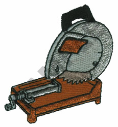 WET SAW embroidery design