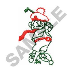 SCOTTISH GOLFER embroidery design