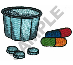 PILL CUP embroidery design