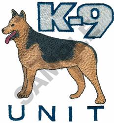 K-9 UNIT embroidery design