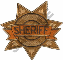SHERIFF BADGE embroidery design