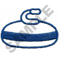 CURLING STONE embroidery design