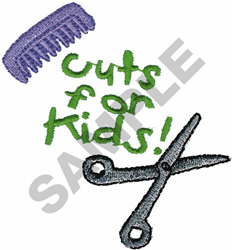CUTS FOR KIDS embroidery design