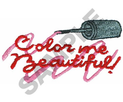 COLOR ME BEAUTIFUL embroidery design