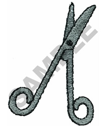 SCISSORS embroidery design