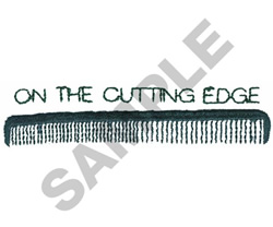 ON THE CUTTING EDGE embroidery design
