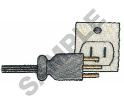 ELECTRICAL PLUG embroidery design