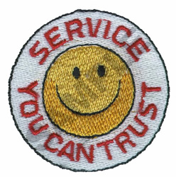 SERVICE YOU CAN TRUST embroidery design