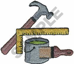 PAINTERS SUPPLIES embroidery design