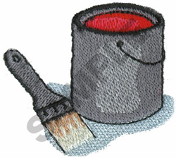 PAINT AND BRUSH embroidery design