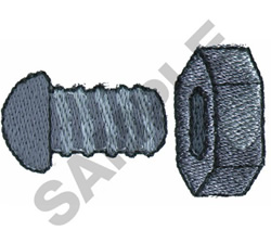 NUT AND BOLT embroidery design