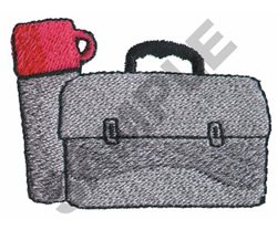 LUNCH BOX AND THERMOS embroidery design
