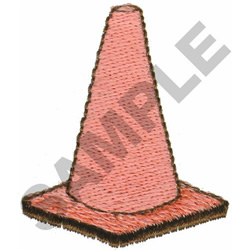 SAFETY CONE embroidery design