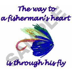 FISHERMANS HEART embroidery design