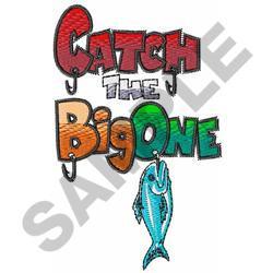 THE BIG ONE embroidery design