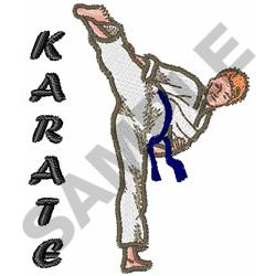 Machine Embroidery Design Karate