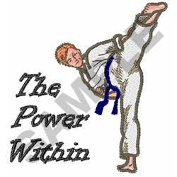 THE POWER WITHIN embroidery design