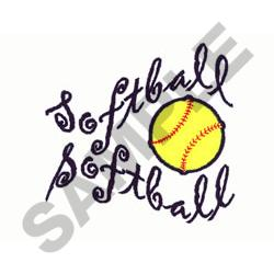 SOFTBALL WAVE embroidery design