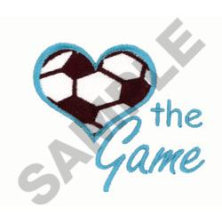 LOVE THE GAME SOCCER embroidery design