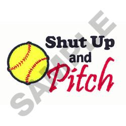 SOFTBALL PITCH embroidery design