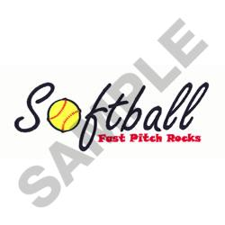 FAST PITCH SOFTBALL embroidery design