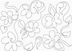 Daisy All Over Quilting embroidery design