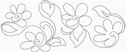Daisy Quilting Border embroidery design