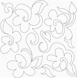 Daisy Quilt Square embroidery design
