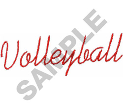 VOLLEYBALL IN SCRIPT embroidery design