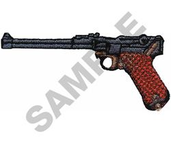 9MM LUGER PISTOL embroidery design