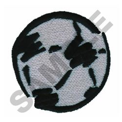 ABSTRACT SOCCER BALL embroidery design