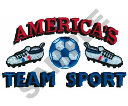 AMERICAS TEAM SPORT embroidery design
