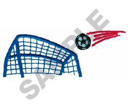 GOAL AND BALL embroidery design